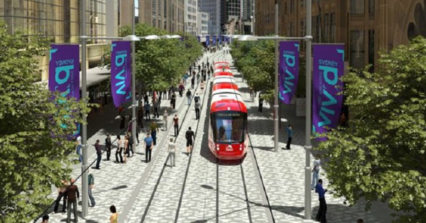 Sydney CBD light rail. Artists Impression: Transport for NSW