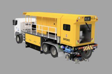 Speno truck-based utility switch grinder