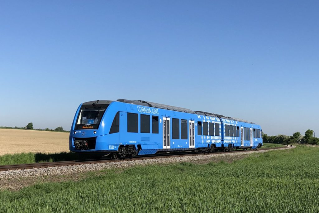 The hydrogen-powered Coradia iLint.